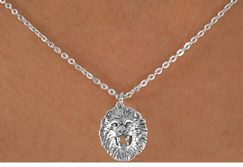 <bR>                EXCLUSIVELY OURS!!<BR> CLICK HERE TO SEE 65+ EXCITING<BR>   CHANGES THAT YOU CAN MAKE!<BR>               LEAD & NICKEL FREE!!<BR>W208SN - LION HEAD & NECKLACE<br>                    AS LOW AS $4.50