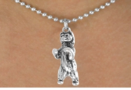 <bR>               EXCLUSIVELY OURS!!<BR>CLICK HERE TO SEE 65+ EXCITING<BR> CHANGES THAT YOU CAN MAKE!<BR>              LEAD & NICKEL FREE!!<BR>     W217SN - STANDING BEAR &<br>      NECKLACE AS LOW AS $4.50