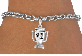 "<bR>              EXCLUSIVELY OURS!!<BR>CLICK HERE TO SEE 65+ EXCITING<BR> CHANGES THAT YOU CAN MAKE!<BR>             LEAD & NICKEL FREE!!<BR>        W233SB - ""#1"" TROPHY &<Br>      BRACELET AS LOW AS $4.50"
