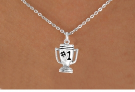 "<bR>              EXCLUSIVELY OURS!!<BR>CLICK HERE TO SEE 65+ EXCITING<BR> CHANGES THAT YOU CAN MAKE!<BR>             LEAD & NICKEL FREE!!<BR>        W233SN - ""#1"" TROPHY &<br>      NECKLACE AS LOW AS $4.50"