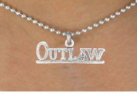 "<bR>                EXCLUSIVELY OURS!!<BR>  CLICK HERE TO SEE 65+ EXCITING<BR>    CHANGES THAT YOU CAN MAKE!<BR>               LEAD & NICKEL FREE!!<BR>W237SN - ""OUTLAW"" & NECKLACE<Br>                    AS LOW AS $4.50"