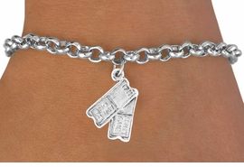 "<bR>               EXCLUSIVELY OURS!!<BR>  CLICK HERE TO SEE 65+ EXCITING<BR>    CHANGES THAT YOU CAN MAKE!<BR>              LEAD & NICKEL FREE!!<BR>W238SB - ""TWO TICKETS"" CHARM<Br>      & BRACELET AS LOW AS $4.50"