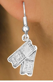 "<bR>               EXCLUSIVELY OURS!!<BR> CLICK HERE TO SEE 65+ EXCITING<BR>   CHANGES THAT YOU CAN MAKE!<BR>              LEAD & NICKEL FREE!!<BR>W238SE - ""TWO TICKETS"" CHARM<Br>     & EARRINGS FROM $4.50 TO $8.35"