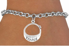 "<bR>             EXCLUSIVELY OURS!!<BR>CLICK HERE TO SEE 65+ EXCITING<BR> CHANGES THAT YOU CAN MAKE!<BR>            LEAD & NICKEL FREE!!<BR>       W239SB - ""TENNIS"" VISOR<Br>     & BRACELET AS LOW AS $4.50"
