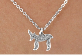 "<bR>                EXCLUSIVELY OURS!!<BR>  CLICK HERE TO SEE 65+ EXCITING<BR>   CHANGES THAT YOU CAN MAKE!<BR>               LEAD & NICKEL FREE!!<BR> W363SN - JEWISH ""CHAI"" SYMBOL<br>  & NECKLACE FROM $4.50 TO $8.35"