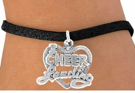 "<bR>               EXCLUSIVELY OURS!!<BR> CLICK HERE TO SEE 65+ EXCITING<BR>   CHANGES THAT YOU CAN MAKE!<BR>              LEAD & NICKEL FREE!!<BR>W367SB - ""I LOVE CHEERLEADING""<Br>     & BRACELET AS LOW AS $4.50"