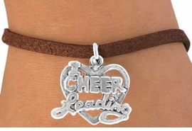 "<bR>              EXCLUSIVELY OURS!!<BR>CLICK HERE TO SEE 65+ EXCITING<BR>  CHANGES THAT YOU CAN MAKE!<BR>             LEAD & NICKEL FREE!!<BR>W367SB - ""I LOVE CHEERLEADING""<Br>    & BRACELET AS LOW AS $4.50"