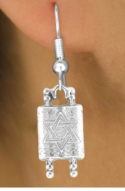 "<bR>               EXCLUSIVELY OURS!!<BR>  CLICK HERE TO SEE 65+ EXCITING<BR>   CHANGES THAT YOU CAN MAKE!<BR>               LEAD & NICKEL FREE!!<BR>     W371SE - ""TORAH SCROLLS"" &<BR>     EARRINGS FROM $4.50 TO $8.35"