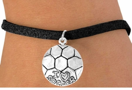 "<bR>             EXCLUSIVELY OURS!!<BR>CLICK HERE TO SEE 65+ EXCITING<BR> CHANGES THAT YOU CAN MAKE!<BR>            LEAD & NICKEL FREE!!<BR>W375SB - ""I LOVE SOCCER"" BALL<Br>    & BRACELET AS LOW AS $4.50"