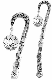 "<bR>              EXCLUSIVELY OURS!!<BR>CLICK HERE TO SEE 65+ EXCITING<BR>  CHANGES THAT YOU CAN MAKE!<BR>             LEAD & NICKEL FREE!!<BR>  W375SBM -  ""I LOVE SOCCER"" &<Br>BOOKMARK FROM $3.31 TO $6.25"