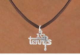 "<bR>             EXCLUSIVELY OURS!!<BR>CLICK HERE TO SEE 65+ EXCITING<BR> CHANGES THAT YOU CAN MAKE!<BR>             LEAD & NICKEL FREE!!<BR>     W377SN - ""I LOVE TENNIS"" &<Br>      NECKLACE AS LOW AS $4.50"