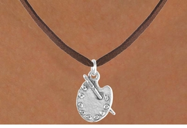 """<bR>             EXCLUSIVELY OURS!!<BR>CLICK HERE TO SEE 65+ EXCITING<BR> CHANGES THAT YOU CAN MAKE!<BR>            LEAD & NICKEL FREE!!<BR> W392SN - """"PAINTER'S PALETTE"""" <Br>    & NECKLACE AS LOW AS $4.50"""