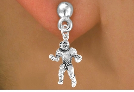 <bR>             EXCLUSIVELY OURS!!<BR>CLICK HERE TO SEE 65+ EXCITING<BR> CHANGES THAT YOU CAN MAKE!<BR>            LEAD & NICKEL FREE!!<BR>    W393SE - FOOTBALL PLAYER<Br>     & EARRING FROM $4.50 TO $8.35