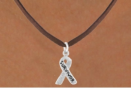 "<bR>              EXCLUSIVELY OURS!!<BR>CLICK HERE TO SEE 65+ EXCITING<BR>  CHANGES THAT YOU CAN MAKE!<BR>             LEAD & NICKEL FREE!!<BR> W398SN - ""SURVIVOR"" RIBBON<Br>& NECKLACE FROM $4.50 TO $8.35"