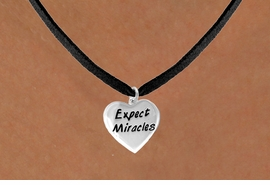 "<bR>              EXCLUSIVELY OURS!!<BR>CLICK HERE TO SEE 65+ EXCITING<BR>  CHANGES THAT YOU CAN MAKE!<BR>             LEAD & NICKEL FREE!!<BR>W403SN - ""EXPECT MIRACLES"" &<Br>       NECKLACE AS LOW AS $4.50"