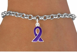 <bR>             EXCLUSIVELY OURS!!<BR>CLICK HERE TO SEE 65+ EXCITING<BR> CHANGES THAT YOU CAN MAKE!<BR>            LEAD & NICKEL FREE!!<BR> W405SB - PURPLE AWARENESS<BR>             RIBBON & BRACELET<Br>                 AS LOW AS $4.50