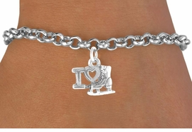 "<bR>             EXCLUSIVELY OURS!!<BR>CLICK HERE TO SEE 65+ EXCITING<BR> CHANGES THAT YOU CAN MAKE!<BR>            LEAD & NICKEL FREE!!<BR> W408SB - ""I LOVE ICE SKATING""<BR>   & BRACELET AS LOW AS $4.50"