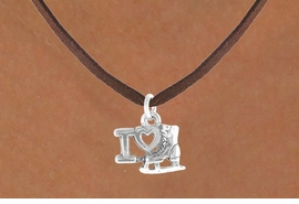 "<bR>              EXCLUSIVELY OURS!!<BR>CLICK HERE TO SEE 65+ EXCITING<BR> CHANGES THAT YOU CAN MAKE!<BR>             LEAD & NICKEL FREE!!<BR> W408SN - ""I LOVE ICE SKATING""<Br>   & NECKLACE AS LOW AS $4.50"