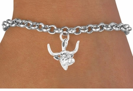 <bR>               EXCLUSIVELY OURS!!<BR>  CLICK HERE TO SEE 65+ EXCITING<BR>   CHANGES THAT YOU CAN MAKE!<BR>              LEAD & NICKEL FREE!!<BR>W410SB - LONGHORN & BRACELET<Br>                    AS LOW AS $4.50
