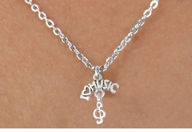"<bR>              EXCLUSIVELY OURS!!<BR>CLICK HERE TO SEE 65+ EXCITING<BR>  CHANGES THAT YOU CAN MAKE!<BR>             LEAD & NICKEL FREE!!<BR>     W413SN - ""I LOVE MUSIC"" &<Br>      NECKLACE AS LOW AS $4.50"
