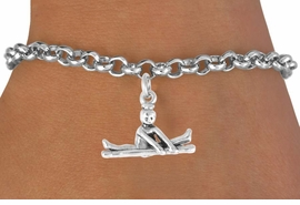 "<bR>                 EXCLUSIVELY OURS!!<BR>    CLICK HERE TO SEE 65+ EXCITING<BR>      CHANGES THAT YOU CAN MAKE!<BR>                 LEAD & NICKEL FREE!!<BR>W418SB - ""BALANCE BEAM GYMNAST""<BR>         & BRACELET AS LOW AS $4.50"