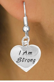 "<bR>             EXCLUSIVELY OURS!!<BR>CLICK HERE TO SEE 65+ EXCITING<BR> CHANGES THAT YOU CAN MAKE!<BR>            LEAD & NICKEL FREE!!<BR>W424SE - ""I AM STRONG"" HEART<Br>& EARRINGS FROM $4.50 TO $8.35"