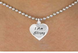 "<bR>              EXCLUSIVELY OURS!!<BR>CLICK HERE TO SEE 65+ EXCITING<BR> CHANGES THAT YOU CAN MAKE!<BR>             LEAD & NICKEL FREE!!<BR>W424SN - ""I AM STRONG"" HEART<br>& NECKLACE FROM $4.50 TO $8.35<BR>                        �2012"