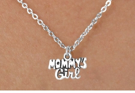 "<bR>           EXCLUSIVELY OURS!! <BR>           LEAD & NICKEL FREE!!<BR>       W14482N - CHILDREN'S <br>      12 INCH CHAIN NECKLACE <br>          WITH ""MOMMY'S GIRL""<br>         CHARM AS LOW AS 3.65"