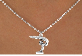 <bR>    EXCLUSIVELY OURS!! <BR>   LEAD & NICKEL FREE!!<BR> W202SN - GYMNASTICS <Br>  CHARM AND NECKLACE <br>       AS LOW AS $3.65
