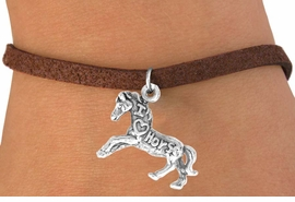 "<bR>                    EXCLUSIVELY OURS!!<Br>                   LEAD & NICKEL FREE!!<BR>   W247SB - ""I LOVE HORSES"" HORSE<Br>CHARM & BRACELET AS LOW AS $4.50"