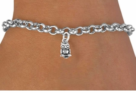 <bR>              EXCLUSIVELY OURS!!<Br>             LEAD & NICKEL FREE!!<BR>W248SB - DETAILED OWL CHARM<Br>    & BRACELET AS LOW AS $4.50