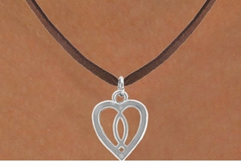 <bR>          EXCLUSIVELY OURS!!<Br>         LEAD & NICKEL FREE!!<BR>W259SN - HEART & CHRISTIAN<Br>     FISH CHARM & NECKLACE<Br>         FROM $4.50 TO $8.35