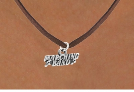 "<bR>         EXCLUSIVELY OURS!!<Br>        LEAD & NICKEL FREE!!<BR>W261SN - ""MARCHING BAND""<Br>         CHARM & NECKLACE<bR>             AS LOW AS $4.50"