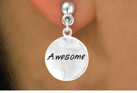 "<bR>                   EXCLUSIVELY OURS!!<Br>                  LEAD & NICKEL FREE!!<BR>        W264SE - ROUND ""AWESOME""<Br>CHARM & EARRINGS AS LOW AS $4.50"