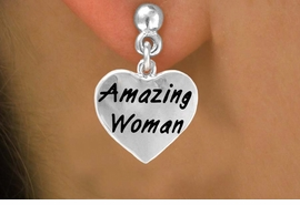 "<bR>           EXCLUSIVELY OURS!!<Br>          LEAD & NICKEL FREE!!<BR>W265SE - ""AMAZING WOMAN""<Br>    HEART CHARM & EARRINGS<Br>               AS LOW AS $4.50"