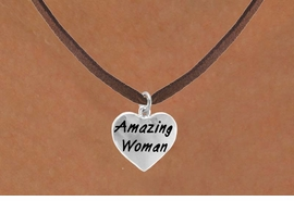 "<bR>                    EXCLUSIVELY OURS!!<Br>                   LEAD & NICKEL FREE!!<BR>W265SN - ""AMAZING WOMAN"" HEART<br>CHARM & NECKLACE AS LOW AS $4.50"