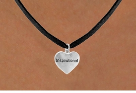 "<bR>                   EXCLUSIVELY OURS!!<Br>                  LEAD & NICKEL FREE!!<BR>  W268SN - ""INSPIRATIONAL"" HEART<br>CHARM & NECKLACE AS LOW AS $4.50"