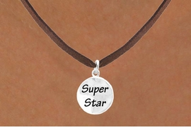 "<bR>          EXCLUSIVELY OURS!!<Br>         LEAD & NICKEL FREE!!<BR>W271SN - ""SUPER STAR"" DISC<br>& NECKLACE AS LOW AS $4.50"