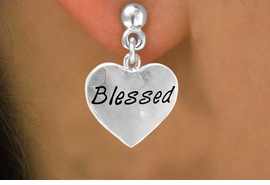 "<bR>           EXCLUSIVELY OURS!!<Br>          LEAD & NICKEL FREE!!<BR>W272SE - ""BLESSED"" HEART &<Br>EARRINGS FROM $4.50 TO $8.35"