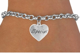 "<bR>          EXCLUSIVELY OURS!!<Br>         LEAD & NICKEL FREE!!<BR> W274SB - ""SPECIAL"" HEART<Br>& BRACELET AS LOW AS $4.50"