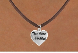 "<bR>                  EXCLUSIVELY OURS!!<Br>                 LEAD & NICKEL FREE!!<BR>  W276SN - ""THE MOST BEAUTIFUL""<Br>HEART & NECKLACE AS LOW AS $4.50"