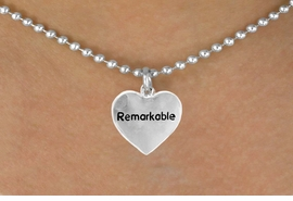 "<bR>              EXCLUSIVELY OURS!!<Br>             LEAD & NICKEL FREE!!<BR>W278SN - ""REMARKABLE"" HEART<br>    & NECKLACE AS LOW AS $4.50"