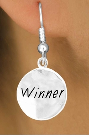 "<bR>          EXCLUSIVELY OURS!!<Br>         LEAD & NICKEL FREE!!<BR> W285SE - ""WINNER"" CIRCLE<Br>& EARRINGS FROM $4.50 TO $8.35"