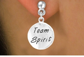"<bR>                    EXCLUSIVELY OURS!!<Br>                   LEAD & NICKEL FREE!!<BR>      W286SE - ROUND ""TEAM SPIRIT""<Br>CHARM & EARRINGS FROM $4.50 TO $8.35"