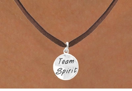 "<bR>                    EXCLUSIVELY OURS!!<Br>                   LEAD & NICKEL FREE!!<BR>     W286SN - ROUND ""TEAM SPIRIT""<br>CHARM & NECKLACE AS LOW AS $4.50"