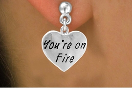"<bR>                 EXCLUSIVELY OURS!!<Br>                LEAD & NICKEL FREE!!<BR>         W287SE - ""YOU'RE ON FIRE""<Br>HEART & EARRINGS FROM $4.50 TO $8.35"
