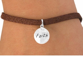 """<bR>            EXCLUSIVELY OURS!!<Br>           LEAD & NICKEL FREE!!<BR>   W294SB - """"FAITH"""" CIRCLE &<BR>BRACELET FROM $4.50 TO $8.35"""