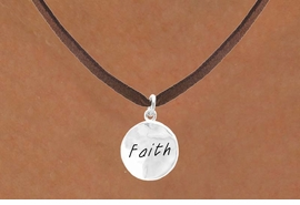 "<bR>          EXCLUSIVELY OURS!!<Br>         LEAD & NICKEL FREE!!<BR>   W294SN - ""FAITH"" CIRCLE<BR>& NECKLACE FROM $4.50 TO $8.35"