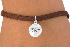 "<bR>         EXCLUSIVELY OURS!!<Br>        LEAD & NICKEL FREE!!<BR>W296SB - ""STAR"" CIRCLE &<bR> BRACELET AS LOW AS $4.50"