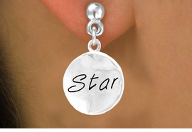 "<bR>        EXCLUSIVELY OURS!!<Br>       LEAD & NICKEL FREE!!<BR>W296SE - ""STAR"" CIRCLE &<Br>EARRINGS FROM $4.50 TO $8.35"